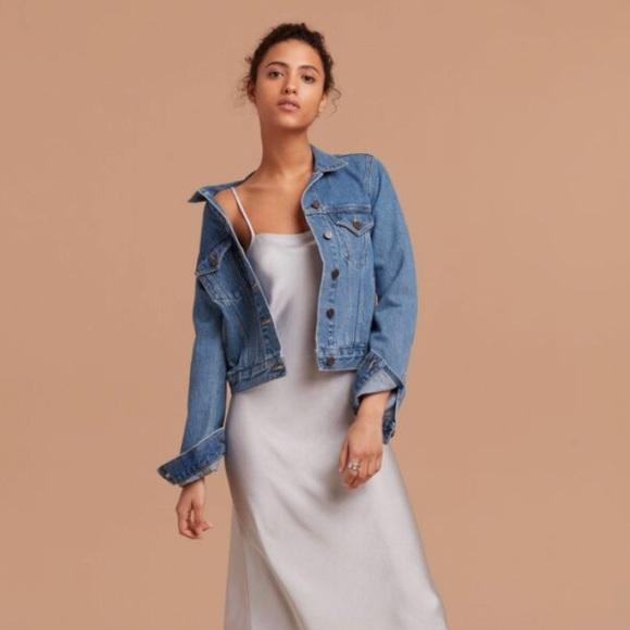Aritzia Jackets & Blazers - Aritzia Wilfred mathilde denim jacket
